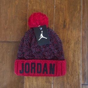 Nike Air Jordan Cable Knit Beanie with Pom